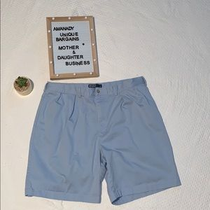 🦁 Polo by Ralph Lauren baby blue pleated shorts
